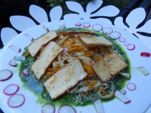 Ryzove nudle s tofu a mrkvi