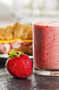 jahodové smoothie