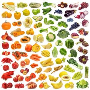 barevna zelenina a ovoce