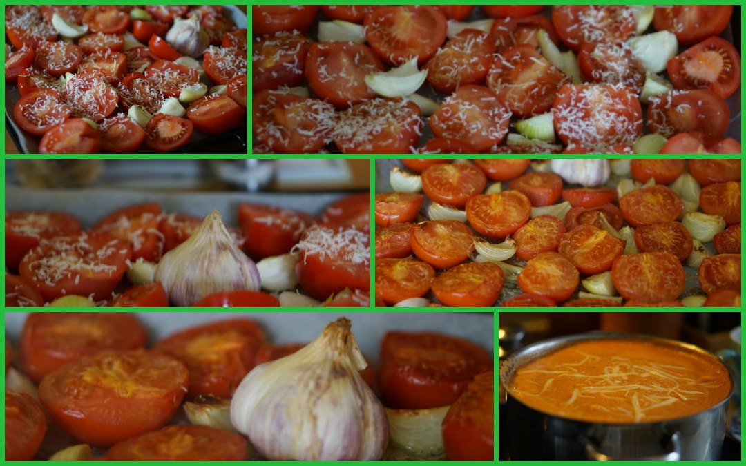Rajská polévka z pečených rajčat